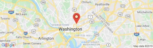 Google map image of Washington, DC 20001, USA